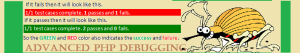 Debug in advanced PHP