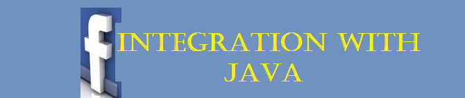 Steps to integrate facebook with Java