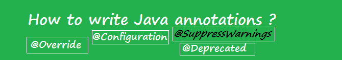How to write Java annotations?