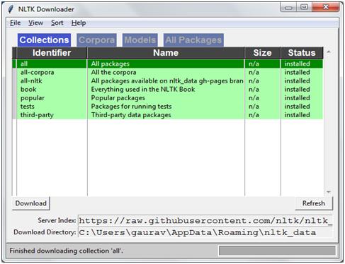 NLTK Downloader
