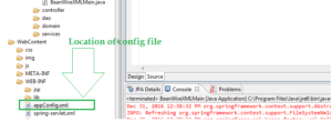 Configuration files location