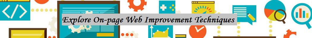 On-page Web Improvement Techniques