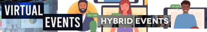 What is a virtual and hybrid event?
